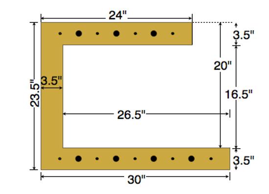 Dual Deck Bracket 30″ – 24″, bundle of 4
