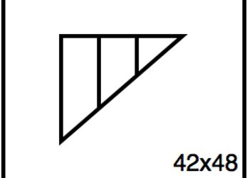 Triangular Benchwork – 42 x 48