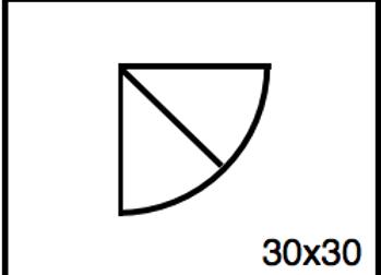 Outside Corner – 30 x 30