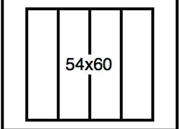 Rectangular Benchwork – 54 x 60