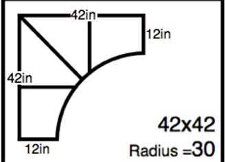 Inside Corner – 42 x 42 – 30R