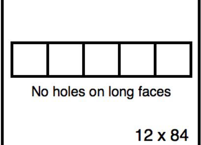 Rectangular Benchwork – 12 x 84