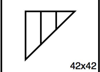 Triangular Benchwork – 42 x 42