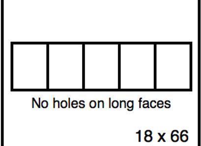 Rectangular Benchwork – 18 x 66