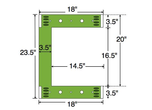 Dual Deck Bracket (Notched) 18″ – 18″, bundle of 4
