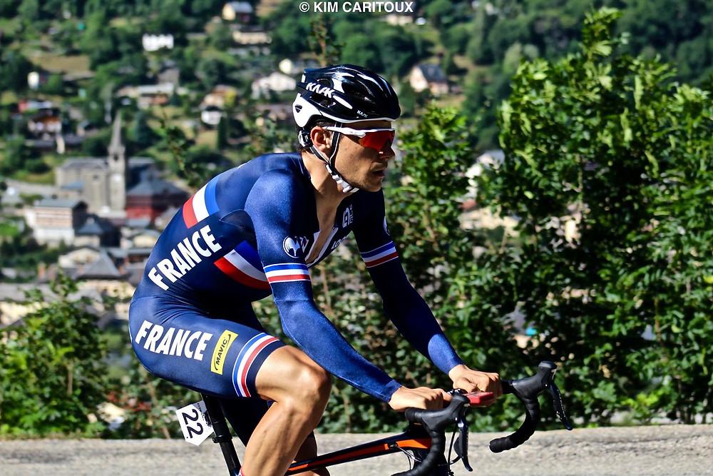 Jérémy Defaye avec le maillot de l'Equipe de France