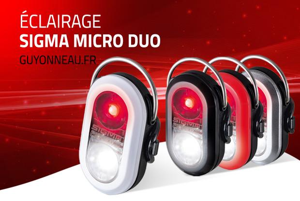 Cycliste visible avec le Micro Duo Sigma