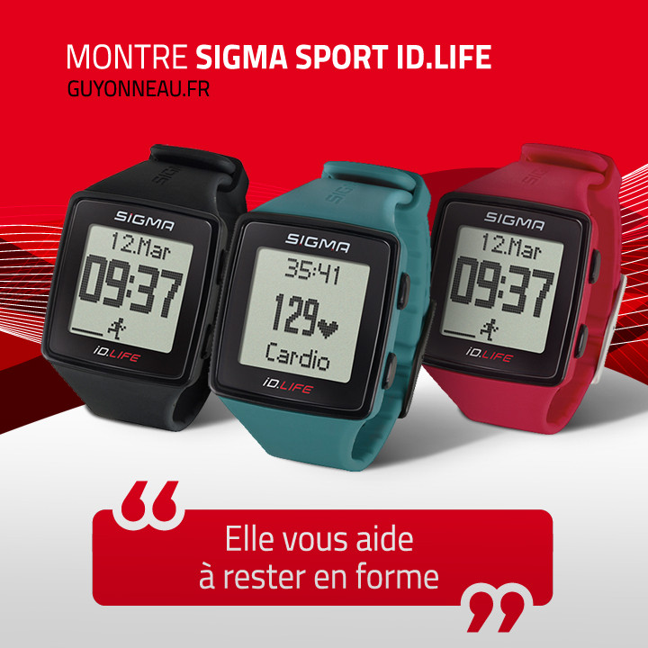 Montre Sigma cardio IDLIFE disponible en 3 couleurs