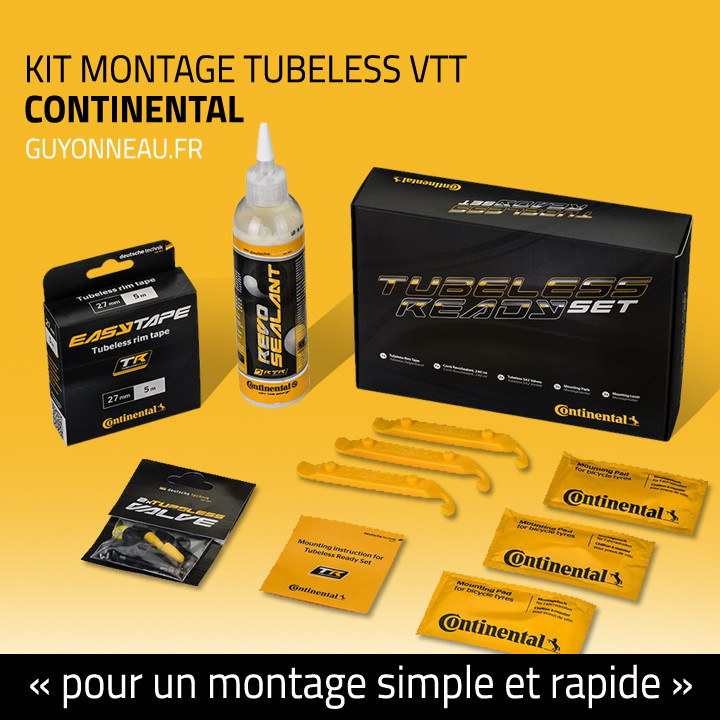 kit de montage tubeless VTT