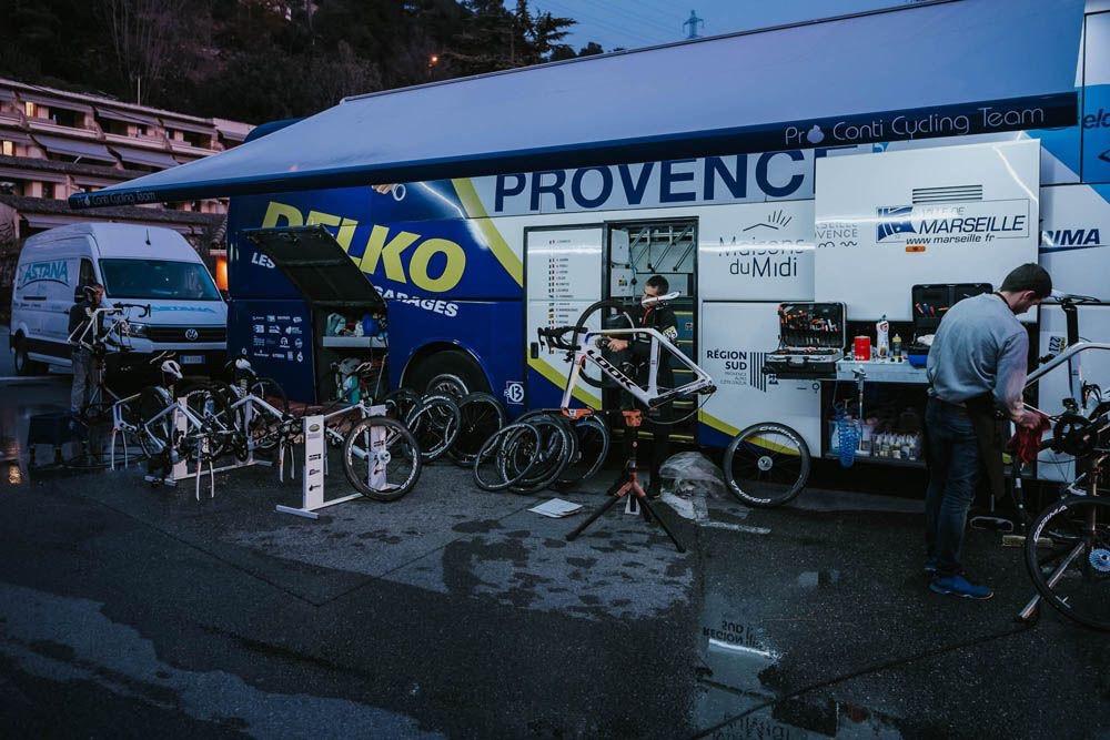 Le camion-atelier de l'équipe Delko