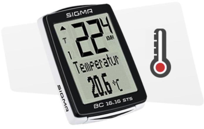 Affichage de la température Sigma BC 16.16