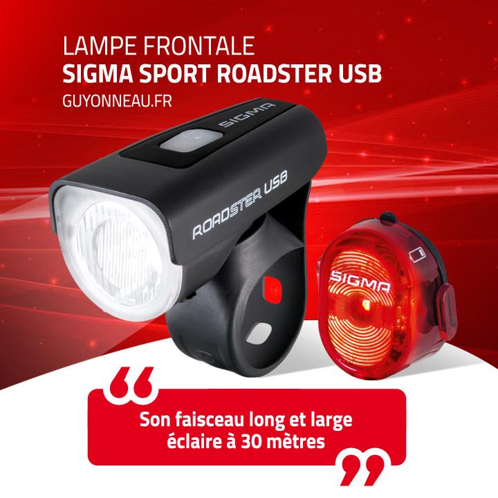 Lampe frontale Sigma Sport Roadster USB
