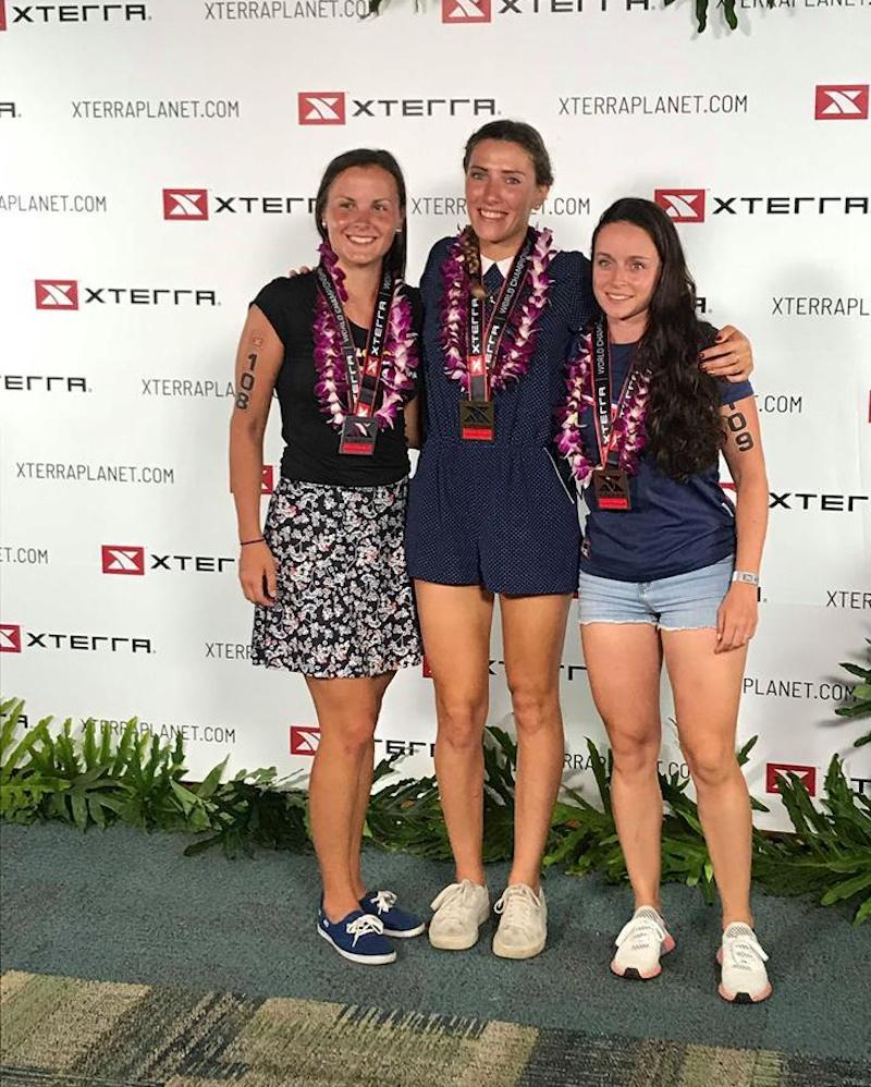 Le podium femmes Xterra 2018