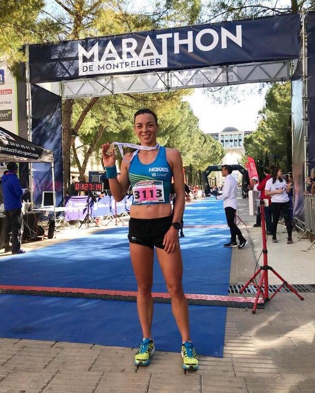 Manon tout sourire après un Marathon !