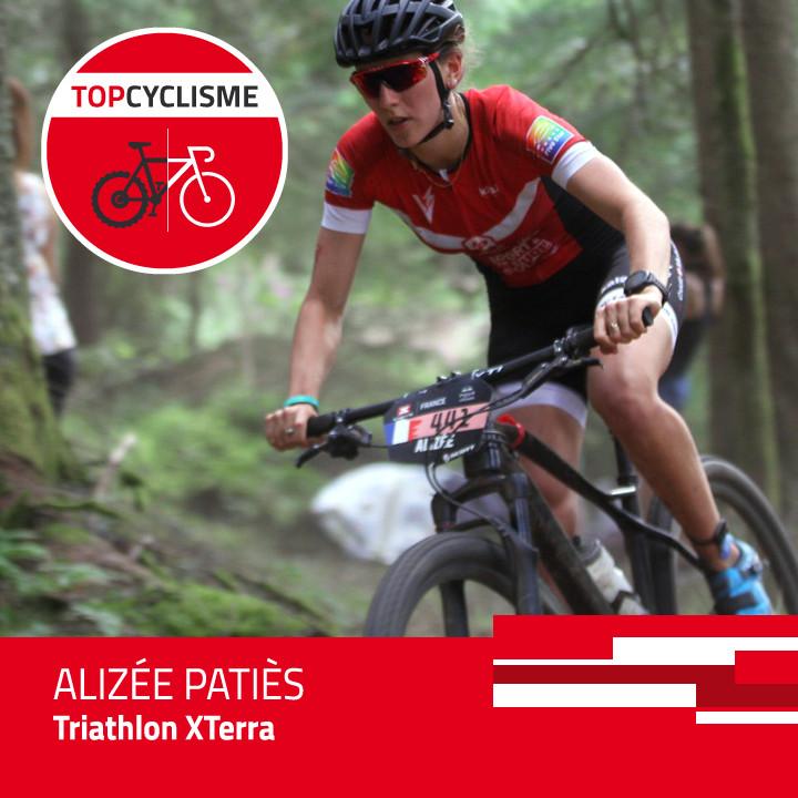 Alizée Patiès domine à vélo.