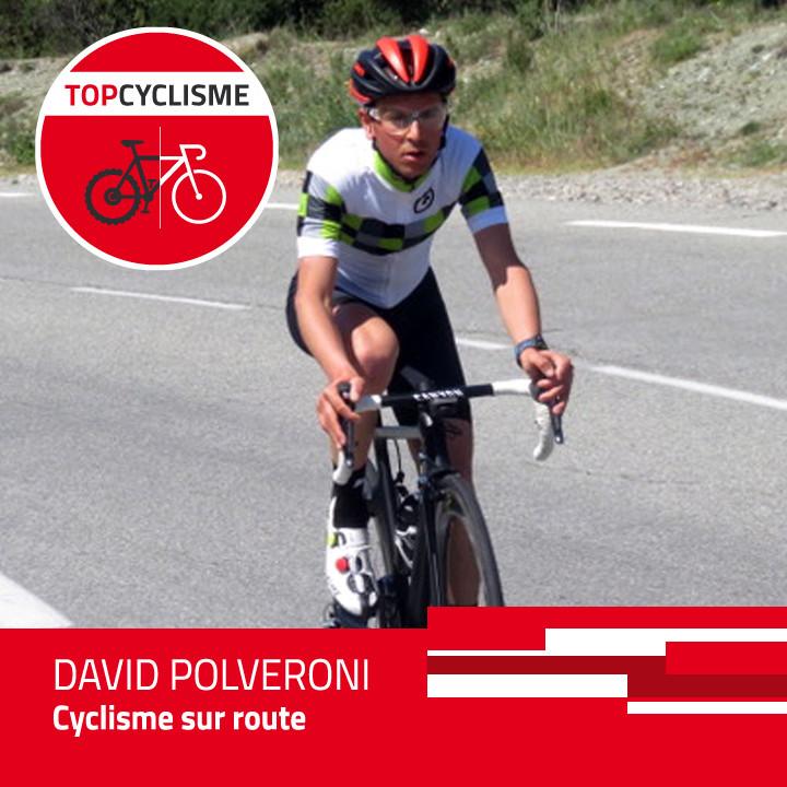 David Polveroni en plein effort.