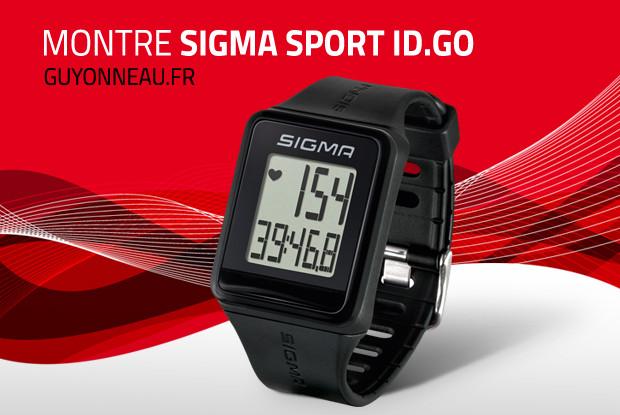 Montre sport Sigma ID.GO, facile à utiliser!