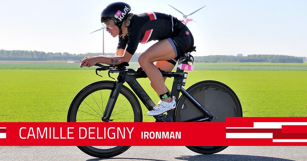 Camille Deligny, redoutable à vélo.