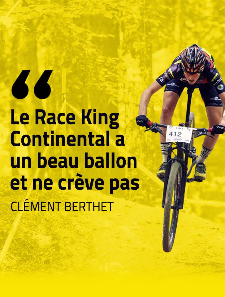 Clément Berthet roule en Continental