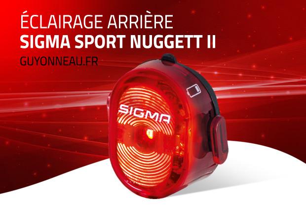 Sigma Nugett II, éclairage arrière vélo