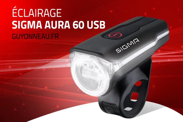 Aura 60 USB, l'éclairage vélo route Sigma