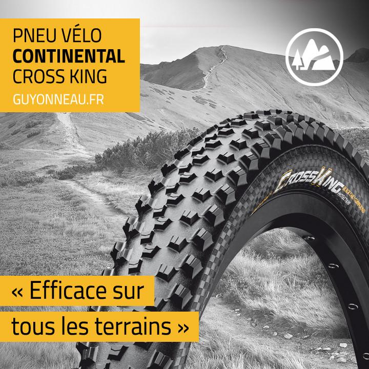Le profil du pneu Cross King Continental