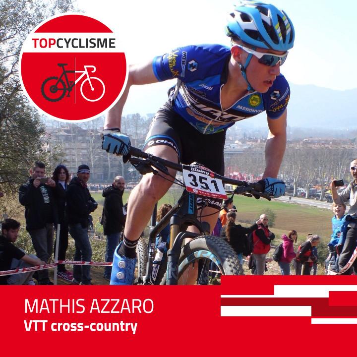 Mathis Azzaro, efficace en montée et en descente