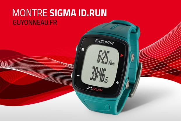 La montre Sigma ID.RUN couleur turquoise