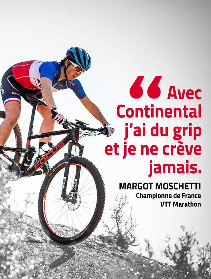 Margot Moschetti roule en Continental ProTection