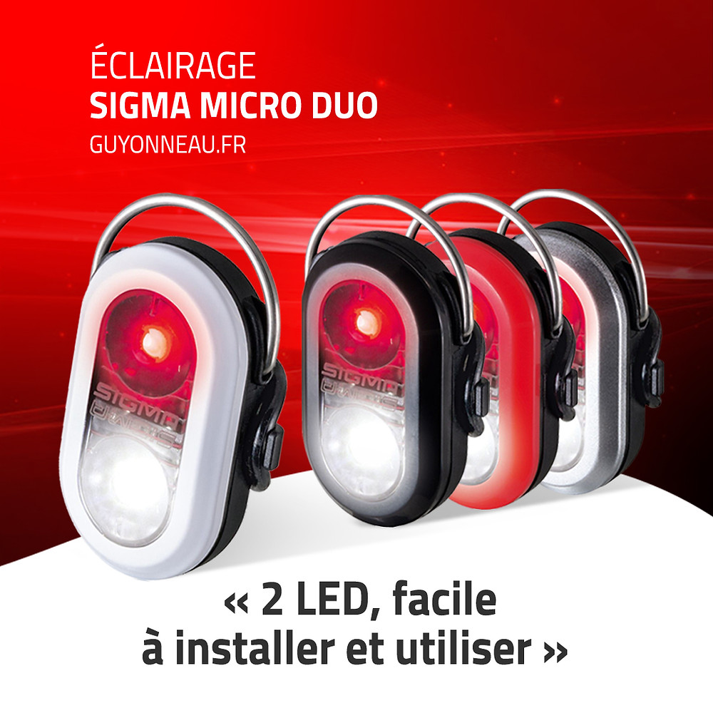 Les 4 combinaisons du Micro Duo Sigma Sport