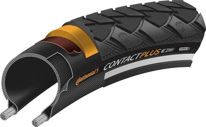 Profil du pneu Continental Contact Plus