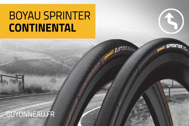 Boyau Continental Sprinter, rapide et confortable.