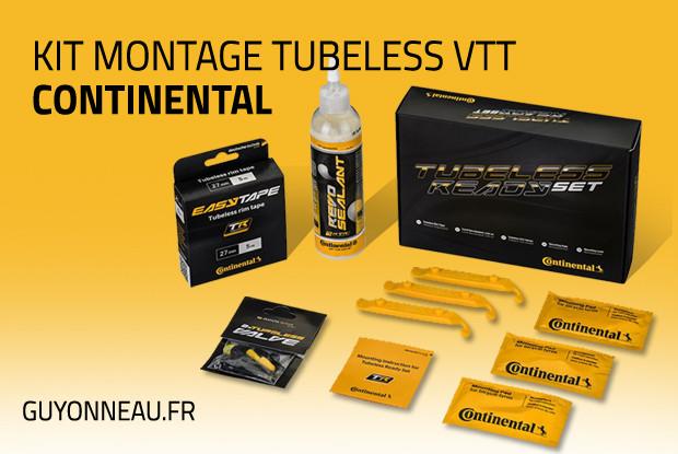 Kit montage tubeless VTT