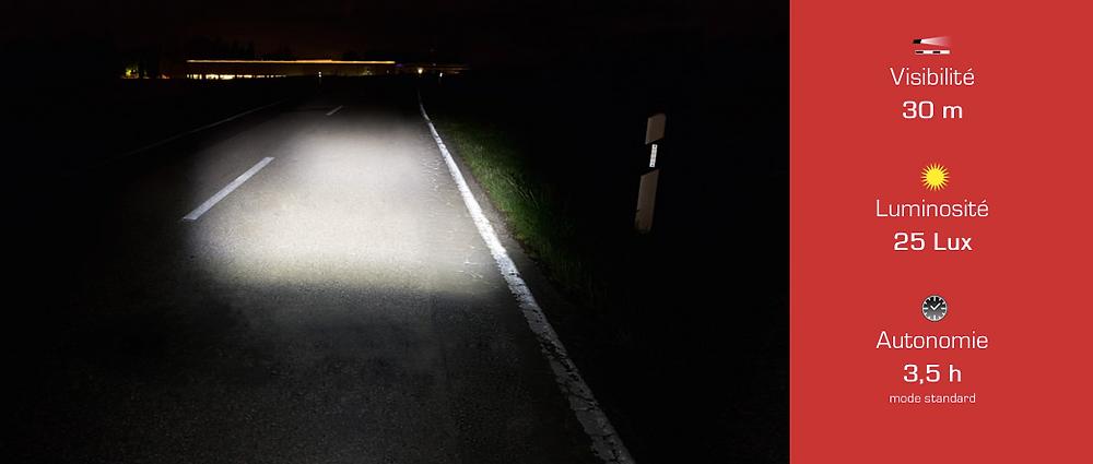 Faisceau lumineux du Sigma Roadster