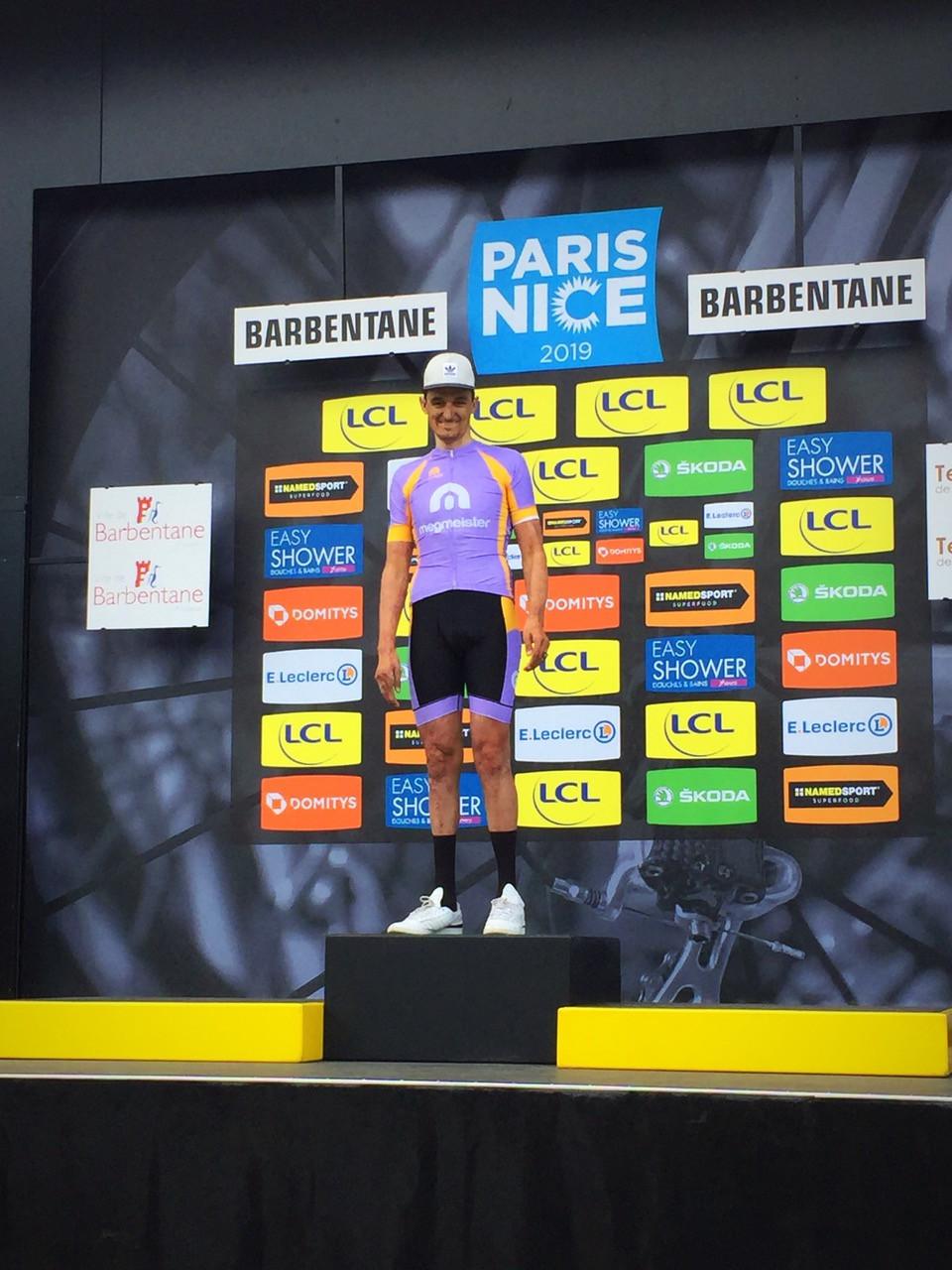 Sur le podium de Paris-Nice !