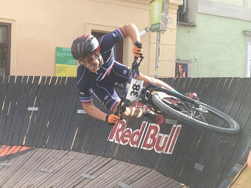 Simon Rogier en plein effort XCE