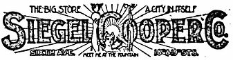 Siegel Cooper Co. Logo