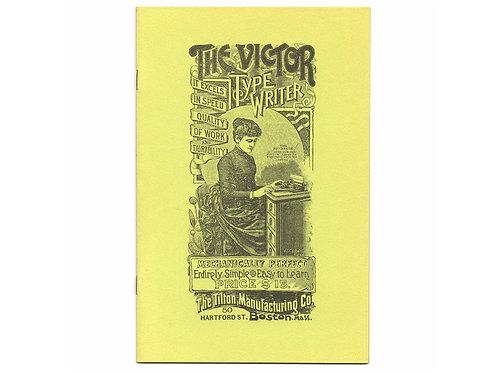 Post Era VICTOR INDEX TYPEWRITER Book Antique
