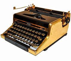Royal Quiet de Luxe Gold Portable Typewriter