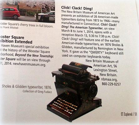 2014 NBMAA Typewriter Exhibition