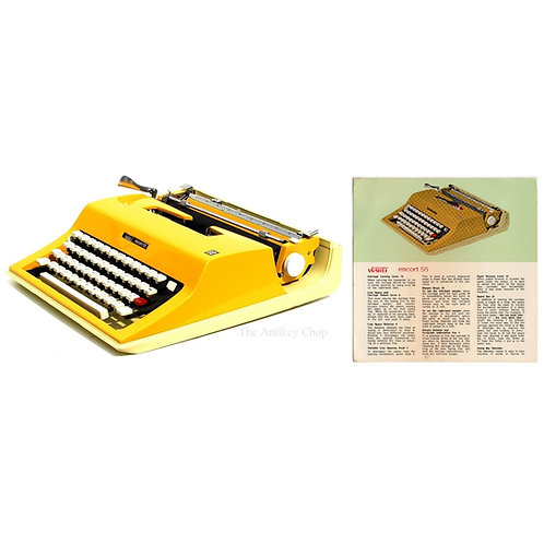 Montgomery Ward Escort 55 Typewriter Instruction Manual