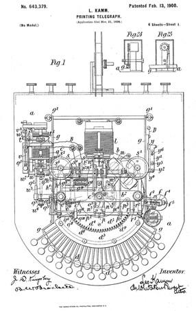 Kamm's Zerograph Patent