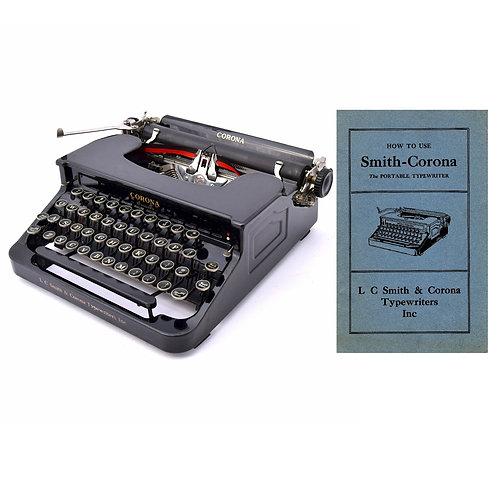 Smith Corona Standard Typewriter Instruction Manual