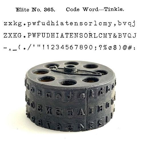 Blickensderfer Typewriter Typewheel No.365 Elite