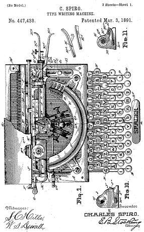 Bar-Lock Typewriter Patent