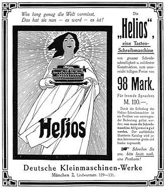 Helios Typewriter Ad