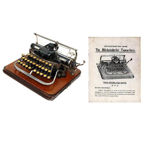 Blickensderfer No.7 Typewriter Instruction Manual