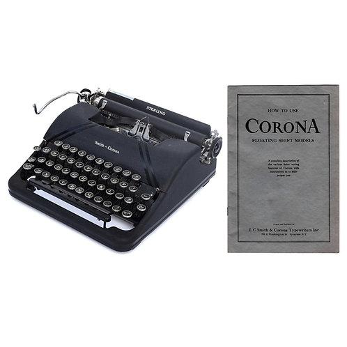 Smith Corona Sterling Typewriter Instruction Manual