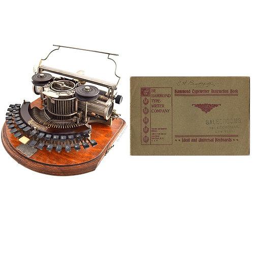 Hammond No.2 Typewriter Instruction Manual