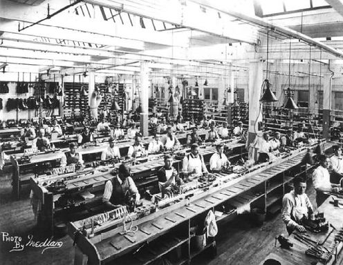 Oliver Typewriter Factory Assembly Room